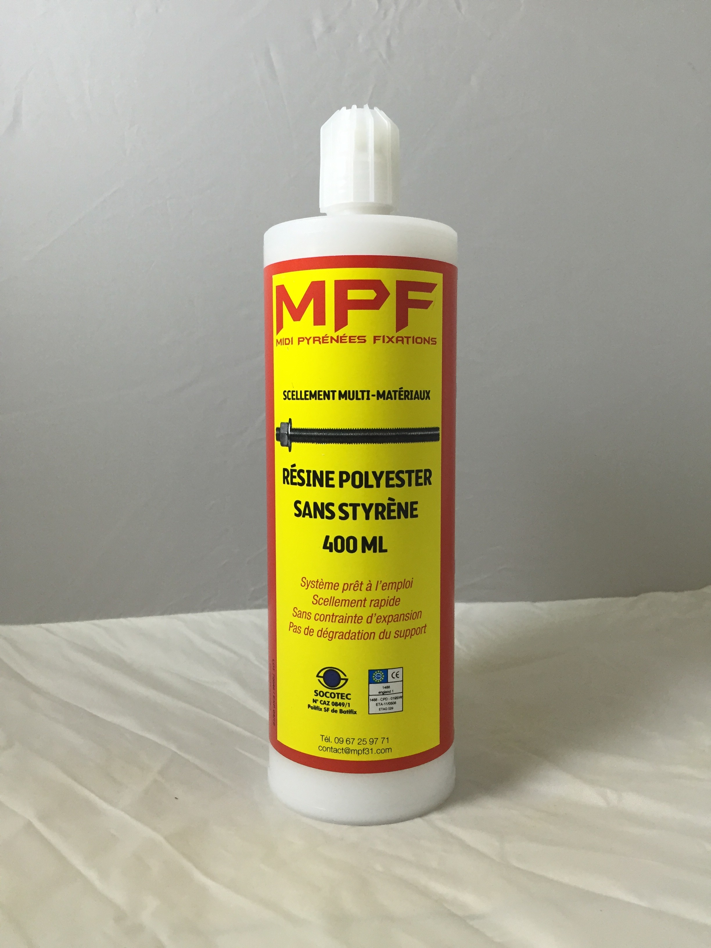 scellement chimique polyester 400ML Image